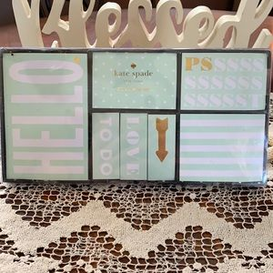 KATE SPADE lite green sticky Note collection NWT